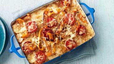 Recette de Candice : Gratin de pommes de terre aux poivrons et aux tomates