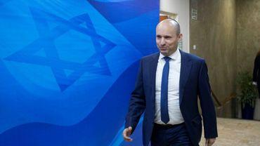 Le chef de file du parti nationaliste religieux Foyer juif Naftali Bennett, le 8 janvier 2017 à Jérusalem