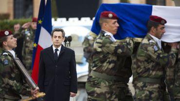 Nicolas Sarkozy à Montauban pour l'hommage aux militaires tués