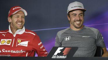 Fernando Alonso avec Sebastian Vettel