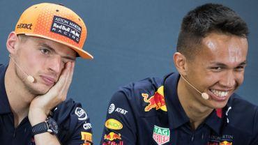 Max Verstappen et Alex Albon
