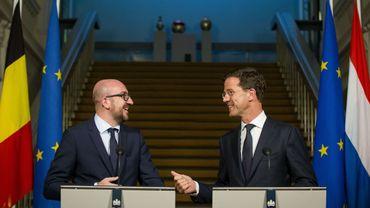 Charles Michel et Mark Rutte.