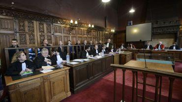 Photo prise au premier jour du procès.