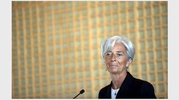 La ministre de l'Economie Christine Lagarde lors d'une conférence de presse à Bercy, le 25 mai 2011