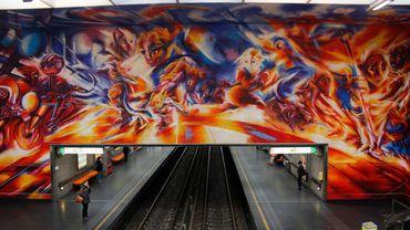 La station Hankar du métro de Bruxelles