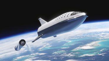 Le Big Falcon Rocket de SpaceX, qui pourrait emmener des passages dans l'espace, et peut être sur Mars