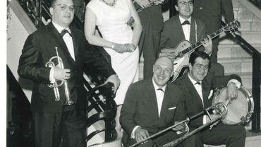 Le trompettiste Albert Langue avec les Dixie Stompers