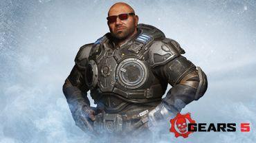 """Dave Bautista, en tant que Batista, à découvrir dans """"Gears 5""""."""
