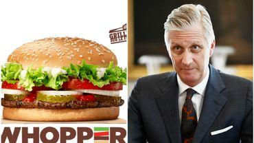 Burger King met fin à son sondage mettant en scène le roi Philippe