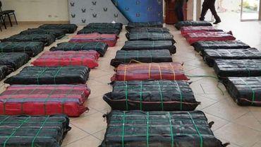 2250 kilogrammes de cocaïne destinée au port d'Anvers ont été interceptés.