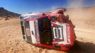 Dakar : Violent crash et abandon pour Tom Colsoul et Bernhard ten Brinke