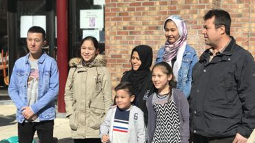 Abdul et Khadija Yusufi et leurs cinq enfants (de gauche à droite): Hussain, Fatima, Mohammad, Masha et Parasto