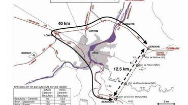 Agglomération liégeoise et schéma de la liaison Cerexhe-Heuseux-Beaufays