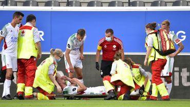 Le défenseur Kenneth Schuermans, s'est blessé lors de la 1ere journée de Pro League.