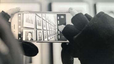 """Cliché pris à Auschwitz - Affiché à l'Expo """"Pour la Mémoire"""""""