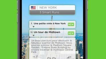 L'application Runnin'City est disponible gratuitement, mais chaque circuit, coûte 1,99 euro (à partir du deuxième achat).