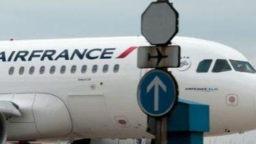 Un avion de la compagnie aérienne Air France à Roissy le 21 juin 2012