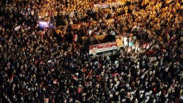 Des milliers d'Egyptiens se rassemblent sur la place Tahrir au Caire pour soutenir le président Morsi, le 10 juillet 2012