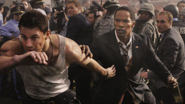 "Channing Tatum et Jamie Foxx dans ""White House Down""."