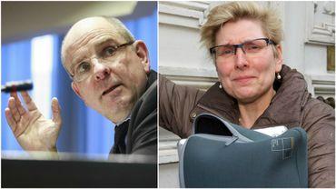 Le ministre Koen Geens et la secrétaire d'Etat Elke Sleurs, initiateurs du projet de loi.