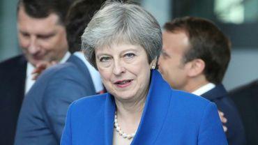 La Première ministre britannique Theresa May, le 11 juillet 2018 à Bruxelles