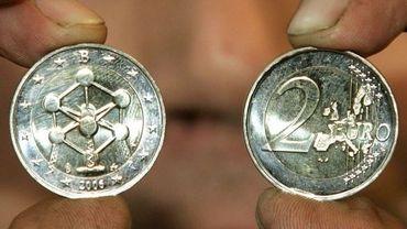 Euro belge avec l'atomium