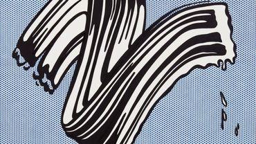 """Roy Lichtenstein, """"White Brushstroke I"""" (1965)"""