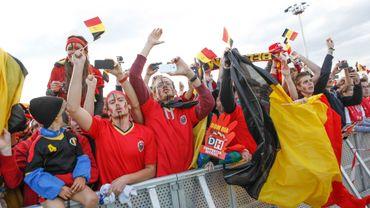 Les supporters étaient présent au départ des Diables rouges pour la Croatie