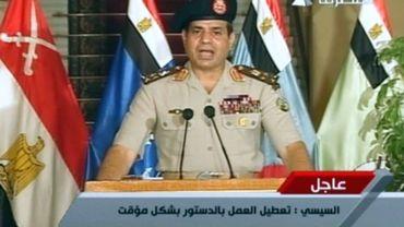 """""""J'appelle tous les Egyptiens honnêtes à descendre dans la rue vendredi pour me donner mandat pour en finir avec la violence et le terrorisme"""", a déclaré le général Sissi lors d'une cérémonie militaire"""