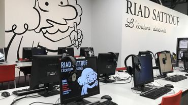 Riad Sattouf à la Bibliothèque Publique d'Information au Centre Pompidou