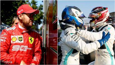 Vettel, Bottas et Hamilton