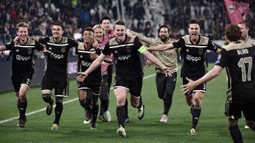 La joie de Matthijs de Ligt, auteur du but de la qualification contre la Juve.