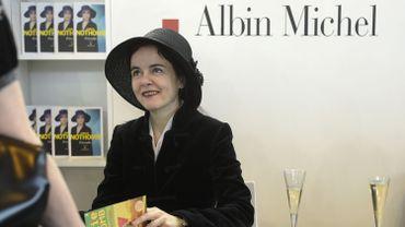 """""""Soif"""", le dernier roman d'Amélie Nothomb, qui est nommé pour le Goncourt 2019, a pris la tête des ventes de livres."""