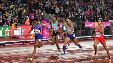 Miller-Uibo foudroyée par les crampes, Francis titrée sur 400m