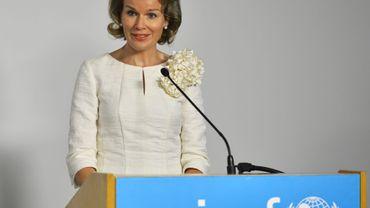 La reine Mathilde au sommet Global Compact soutenu par l'Unicef, pour les droits de l'enfant