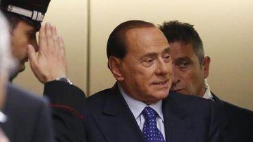 L'ex-chef du gouvernement italien Silvio Berlusconi, le 19 juin 2014 à Naples