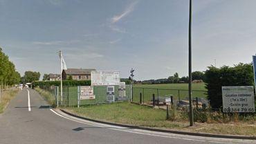 L'entrée du parc de Braine-l'Alleud en grève ce mardi.