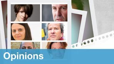De haut en bas et de gauche à droite : Ariane Estenne, Présidente du MOC ; Jean-François Tamellini, secrétaire fédéral FGTB ; Christine Rizzo, avocate ; Alexis Deswaef, Président d'honneur de la Ligue des Droits Humains ; Mehdi Kassou, Plateforme Citoyenne de soutien aux réfugiés et Estelle Ceulemans, secrétaire générale FGTB Bruxelles.