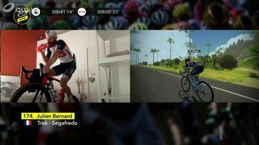 Julien Bernard remporte la deuxième étape du Tour de France virtuel