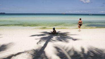 Une plage de l'île de Boracay