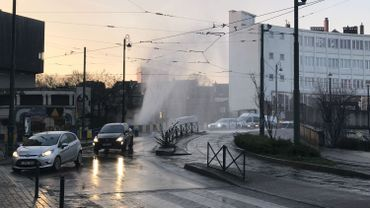 Schaerbeek : une conduite d'eau percée à la Cage aux Ours