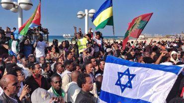 Manifestation des migrants africains en Israël.