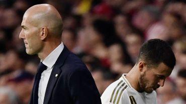 Eden Hazard et Zinedine Zidane