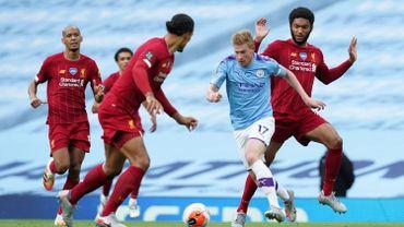 Kevin De Bruyne en action face à Liverpool