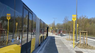 Un nouvel emplacement dédié aux bus des TEC à côté de la gare de La Louvière-Sud