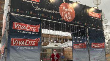 Le Père Noël, présent en 2019 à La Louvière, ne pourra pas déambuler sur le marché de Noël cette année
