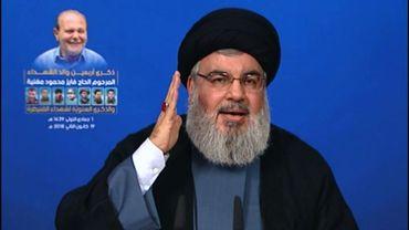 Discours du chef du Hezbollah libanais Hassan Nasrallah diffusé par la chaîne du mouvement Al-Manar, le 19 janvier 2018