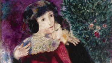 Cette huile sur toile correspond à une phase particulièrement heureuse de la vie du peintre, témoin de son amour pour sa compatriote Bella Rosenfeld et pour sa ville d'adoption, Paris