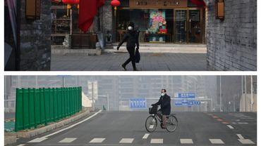 Pékin, en ce mois de février. D'habitude bondées, les rues de la mégalopole sont désertes.