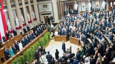 L'hémicycle du Parlement autrichien, le 8 juillet 2016.